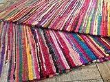 100% recycelte Baumwolle handgefertigt Matte Multi farbige Chindi Floor Flickenteppich, 160 x 230 cm