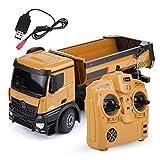 Dilwe RC Muldenkipper, HUINA 1573 1/14 Skala 2,4 GHz RCDumping Truck Auto Fernbedienung Engineering Fahrzeug Spielzeug Geschenk für Kinder