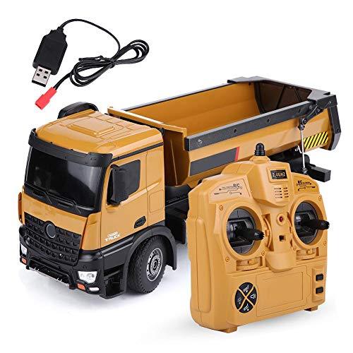 RC Auto kaufen Baufahrzeug Bild: Dilwe RC Muldenkipper, HUINA 1573 1/14 Skala 2,4 GHz RCDumping Truck Auto Fernbedienung Engineering Fahrzeug Spielzeug Geschenk für Kinder*
