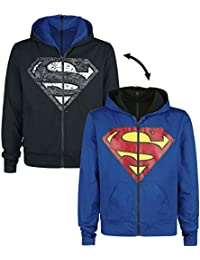 Superman Shield Hood Sudadera capucha con cremallera negro/azul