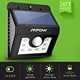 #4: Mpow Solar Lights, 8 LED Super Bright Motion Sensor Security Lights ,Detector Street Lights with 3 Intelligent Modes for Home,Garden,Patio