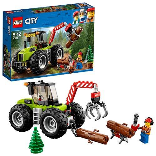 2 Schritt Paket (LEGO City 60181 - Starke Fahrzeuge Forsttraktor, Cooles Kinderspielzeug)