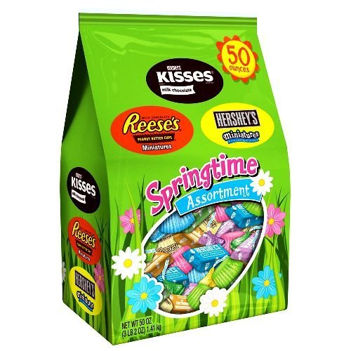hersheys-springtime-assortment-of-kisses-miniatures-and-reese-peanut-butter-cures-50-ounce-by-hershe