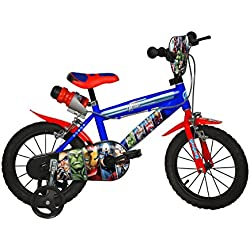 Dino Bikes Avengers - Bicicleta (Ruedas de entrenamiento)