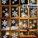 Sinwind 162 Schneeflocken Fensterbild, Fensterbilder Weihnachten Selbstklebend,...