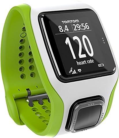 TomTom Runner Cardio GPS-Sportuhr grün/weiß