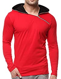GRITSTONES Men's Cotton Full Sleeve Hooded T-Shirt