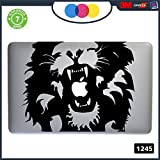 "Sticker Lion - -for all models of Mac Book Apple 11 - 13 - 15 - 17 - -Sticker for any Computer also not MAC BOOK - Black Cod. 1245 11"" - 13"" MACBOOK"