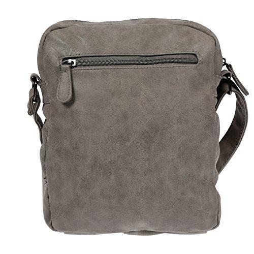 Handtasche Schultertasche Umhängetasche used Optik in PU Grau grau