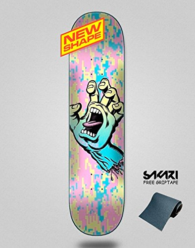 lordofbrands Santa Cruz Screaming Hand Camo Wide Tip 8.0IN X 31 Monopatín Skate Skateboard Deck -