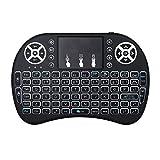 MonoTele Mini Drahtlose Tastatur mit Touchpad Maus, 2,4Ghz Mini Wireless Keyboard Geeignet für Smart TV, Raspberry Pi 3, PC Fernbedienung and Alle Gerät was mit USB Port (Weiß)