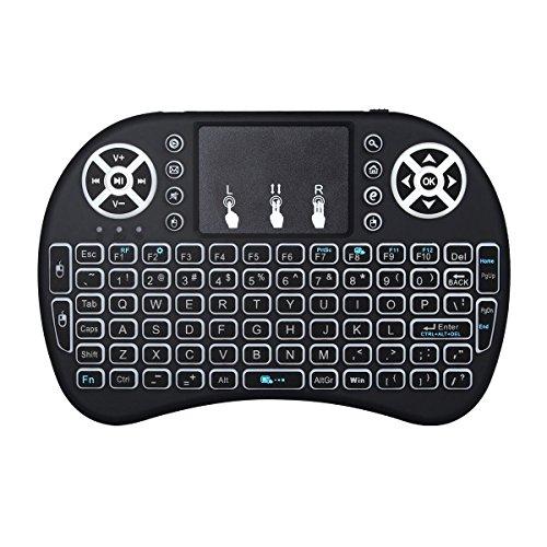 Usb Smart-tv (Mini drahtlose Tastatur mit Touchpad Maus, MonoTele 2,4Ghz mini wireless Keyboard geeignet für Smart TV, Raspberry Pi 3, PC fernbedienung and alle Gerät was mit USB Port (weiß))