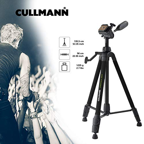 Cullmann PRIMAX 350 Tripod with Three Way Head, Double Extension