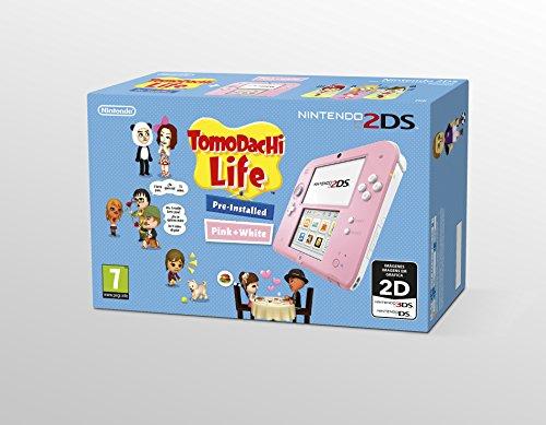 Nintendo 2DS - Consola, Color Rosa + juego Tomodachi Life (Preinstalado) #2478