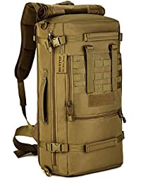 Huntvp Mochila de Asalto Estilo Militar Táctical 3 Vías de Accesorios Modulares 50L Gran Bolsa Impermeable