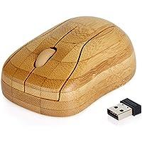 Tonor Mouse Wireless Bambù Sano Anti-Radiazioni Resistente al Sudore con Ricevitore USB per Laptop Mac Computer