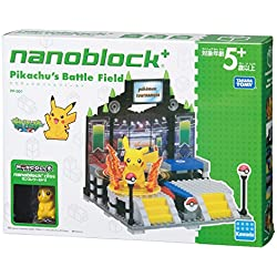 Kawada TAKARATOMY nanoblock + Pokemon–Figura, diseño de Pikachu Pokemon Batalla Puzzle (222Piezas)