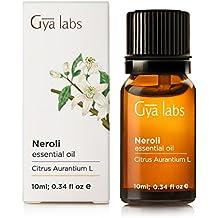 Neroli (Egitto) - 100% puro, non diluito, biologico, naturale e terapeutico di olio essenziale per aromaterapia diffusore, salute della pelle e Relaxtion 10 ml - Gya Labs