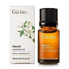Idea Regalo - Neroli (Egitto) - 100% puro, non diluito, biologico, naturale e terapeutico di olio essenziale per aromaterapia diffusore, salute della pelle e Relaxtion 10 ml - Gya Labs