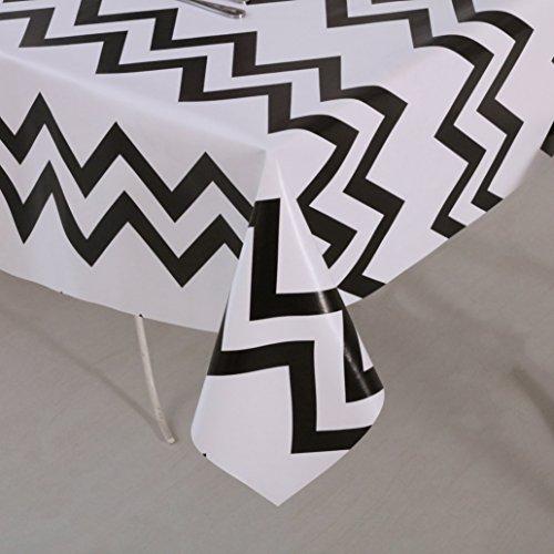 Vinylla diseño Chevron negro hule mantel PVC, fácil