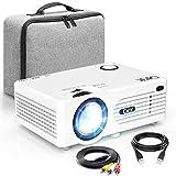 QKK Beamer [Mit Tasche] Projektor, Mini Beamer, Videobeamer...