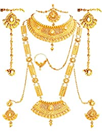 1e211b662 SATHIYA JEWELLERS Gold Plated Bridal Jewellery Necklace Set for Women
