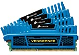Corsair CMZ16GX3M4A1600C9B Vengeance 16GB (4x4GB) DDR3 1600 Mhz CL9 XMP Performance Desktop Memory Kit Blue