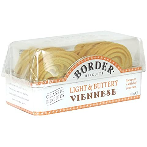 Border Biscuits - Light & Buttery Viennese - 150g (Case of 6)