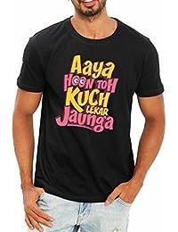 WYO Aaya Hoon Printed Slogan T Shirt For Men