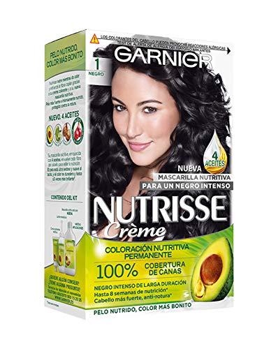 Garnier Nutrisse Creme coloración permanente con mascarilla nutritiva de cuatro aceites - Negro 1