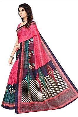 Fabwomen Cotton Silk Saree With Blouse Piece (great indian sale women sarees_Gajri_Free Size)