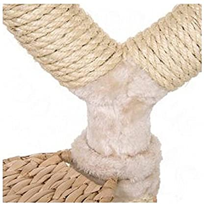 Chic Flower-Shaped Cat Tree With Thick Sisal-Wrapped Metal Pillars And Woven Platforms- Sturdy Scratching Posts… 7