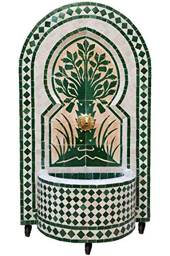 Marokkanischer orientalischer ORIGINAL Mosaik Gartenbrunnen Brunnen Mosaikbrunnen Zimmerbrunnen Muster 4 inklusive Pumpe