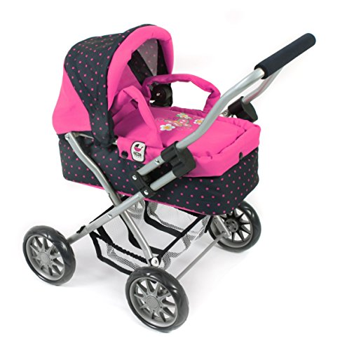 bayer-chic-200055512manta-carro-smarty-puntos-azul-rosa