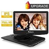 "NAVISKAUTO 12.5"" Reproductor de DVD Portátil con Full HD Pantalla soporta USB/Tarjeta SD/Formato MP4"