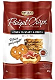 Snyder's Of Hanover, Deli Style Pretzel Crisps - All Natural, Baked, Honey Mustard and Onion Flavour - 85g Pack of 1, Crunchy Pretzel Cracker