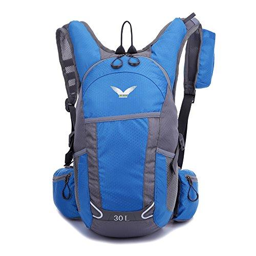 Skysper- Impermeabile Zaino da Trekking 20-35L Esterno Multifunzione Blu