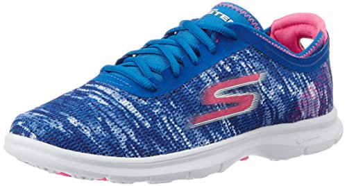 Skechers Go Step - Zapatillas de deporte Mujer, Azul (Azul (BLPK)), 40