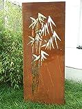 Garten Sichtschutz aus Metall Rost Gartenzaun Gartendeko edelrost Sichtschutzwand 031664-1 125*50*2CM
