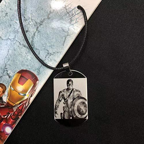 YinXX The Avengers Series Zeichen Halskette, Unisex Doppel Dog Tag Kette Anhänger Halskette, ()