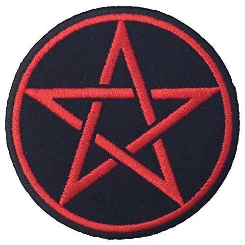 Aufnäher/Aufbügler/Aufbügler mit Pentagramm