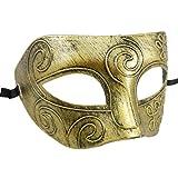 Männer Maskenball Maske Karneval Polterabend Retro Lamellen Partymaske Augenmaske - Gold
