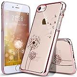 iPhone 8 Hülle,iPhone 7 Hülle,ikasus® iPhone 7 Silikon Hülle [Kristallklar Durchsichtig],Malerei Dandelion Löwenzah