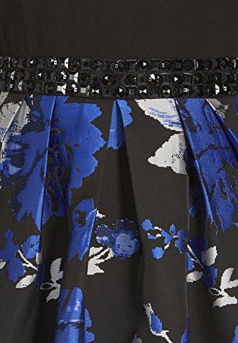 APART Fashion Kleid, Robe Femme Bleu - Blau (schwarz-blau 0)