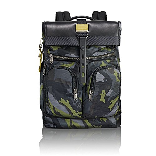 "Tumi Alpha Bravo - London Roll-Top Backpack 15"" Zaino Casual, 48 cm, 24.1 liters, Multicolore (Green Camo)"