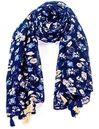 c9583e7399c Grande écharpe foulard douce châle soyeuse en Multi-Couleurs Léger  Printemps Hiver ...