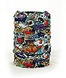 Multifunktionstuch Schal Halstuch Schlauchtuch Headband 30 Varianten Graffiti [036]