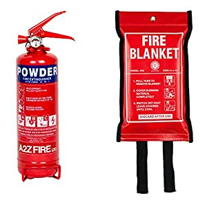 Fire Extinguisher & Fire Blanket : A2Z Fire 1kg Powder Fire Extinguisher For Home, Kitchen, Car, Caravans & Boats