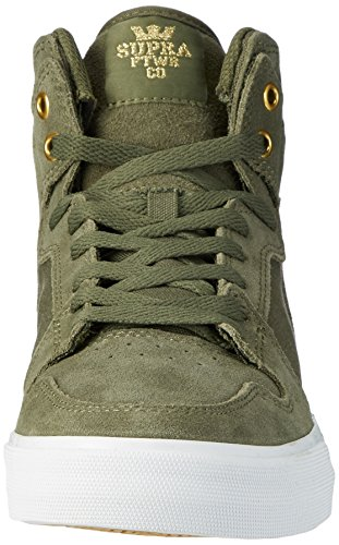 Supra Vaider, Hohe Sneakers Homme Vert (Olive/White-Black)