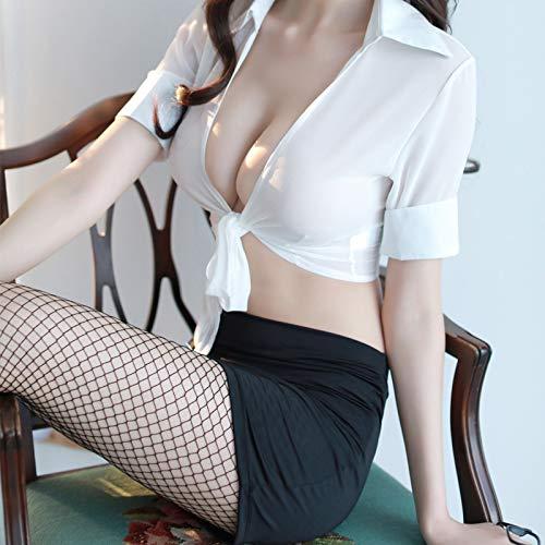 Frauen sexy Dessous sexy OL Sekretärin Lehrerin Anzug Uniform Versuchung Strumpfhose Hüftrock Anzug